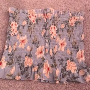 flower print AE tube top
